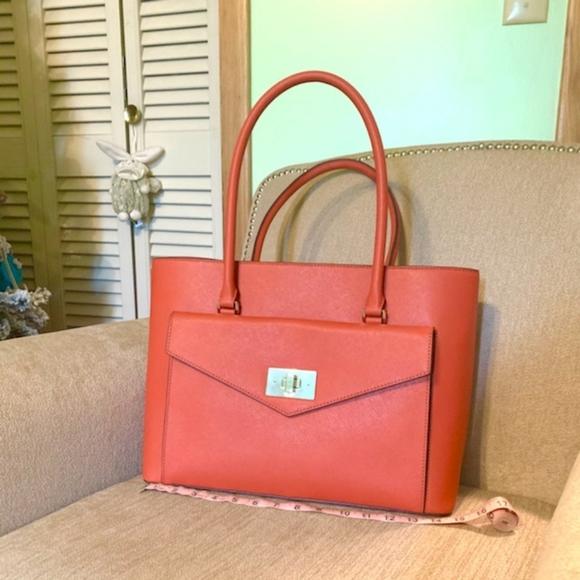 kate spade Handbags - Kate Spade Orange Shopper Tote Bag